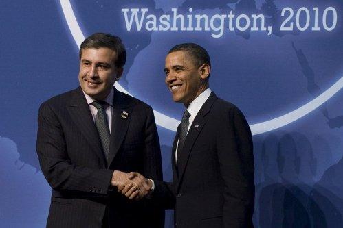 Обама и Саакашвили