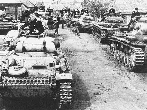 Немецкие танки под Ржевом