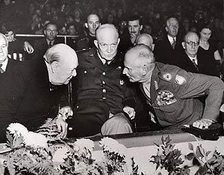 Черчилль и Эйзенхауэр