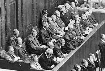 Руководители «И.Г.Фарбенидустри» во время Нюрнбергского процесса -1946 год